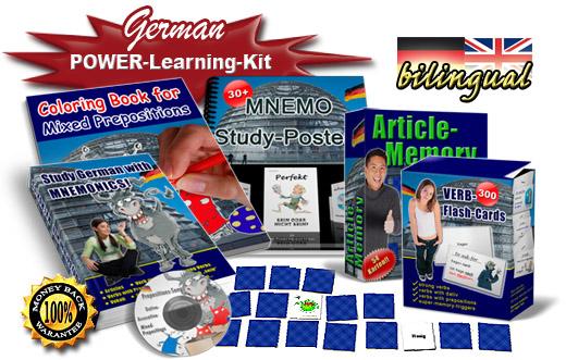 Learn German grammar with mnemonics