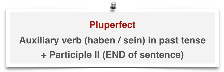 Learn German grammar tenses pluperfect