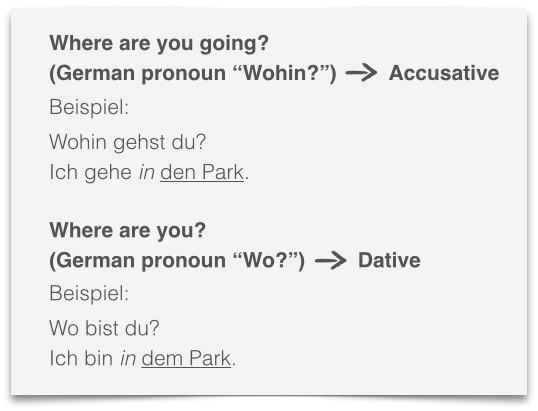 learn German grammar two way prepositions