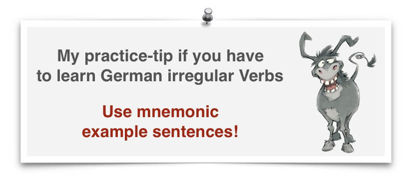 irregular verbs mnemonic sentenses